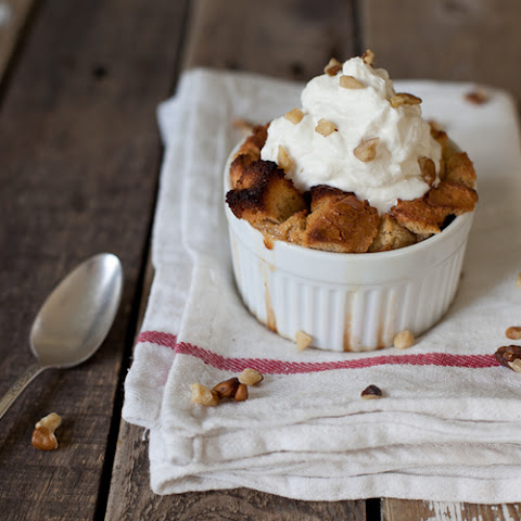 Bread Pudding with Amaretto Cream