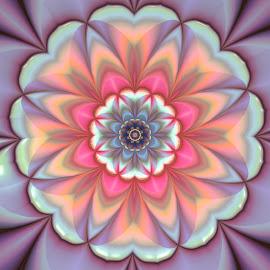 Flower 24 by Cassy 67 - Illustration Abstract & Patterns ( bright, wallpaper, art, fractalart, digital, love, abstract art, digital art, harmony, fractal, fractals, light, flower )