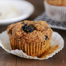 Whole Wheat Pumpkin Blueberry Muffins