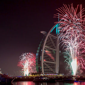 Welcome 2016 by Jaideep Abraham - Public Holidays New Year's Eve ( dubai, jumeirah, 2016, burj al arab, fireworks, new years eve )