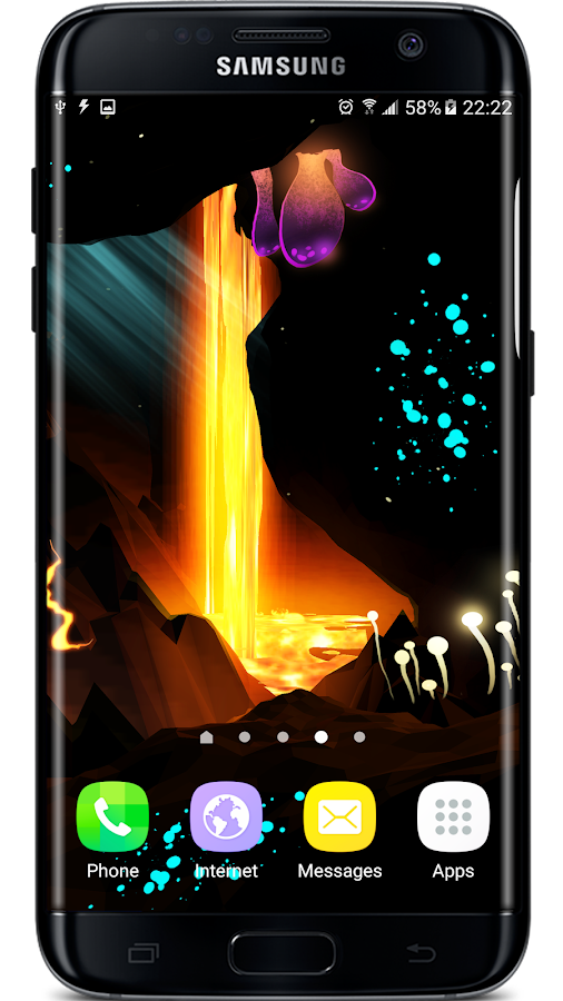 Crystal Lava Cave 3D LWP Screenshot