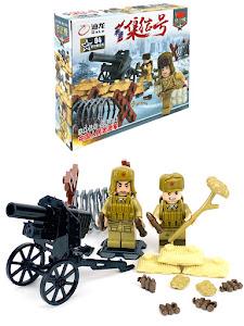 "Конструктор серии ""Brick Battle"", солдат артиллерист"