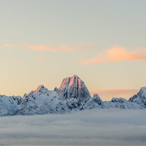 mountains by Benny Høynes - Landscapes Mountains & Hills ( mountain, cold, nature, sunset, frost, norway )