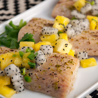 Mahi Mahi with Dragon Fruit-Pineapple Salsa