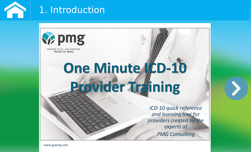 PMG One Minute ICD-10 Training - screenshot