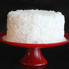 White Cake {Coconut Frosting}
