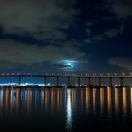Coronado Bridge by Aram Khachaturyan - City,  Street & Park  Skylines ( san diego, skyline, ocean, coronado, califronia, bridge )
