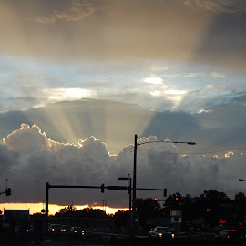Orlando Sunset by Keith Heinly - Landscapes Sunsets & Sunrises ( clouds, flag, florida, orlando, 192 )