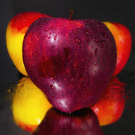 Red Delicous Apple by Dave Walters - Food & Drink Fruits & Vegetables ( fruit, nature, still life, apples, lumix fz2500 )
