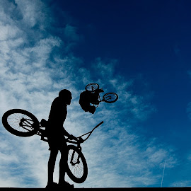 in The sky by Сергей Кущь - Sports & Fitness Other Sports ( extreme, russia, bmx, sport, bicycle )