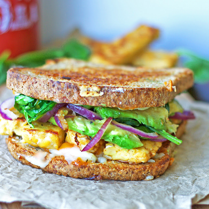 Tempeh & Avocado Grilled Cheese Recipe | Yummly