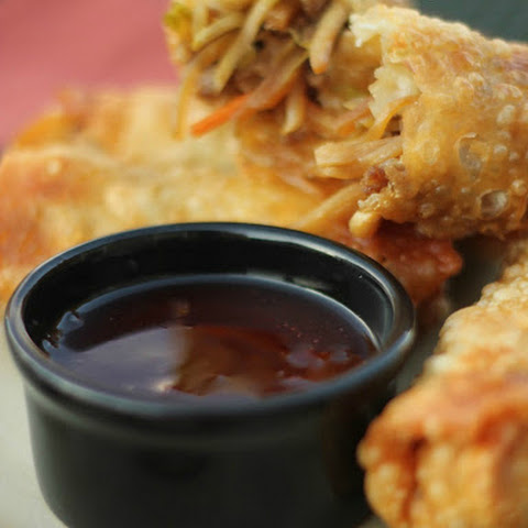 Sausage Egg Rolls with Homemade Sweet and Sour Sauce