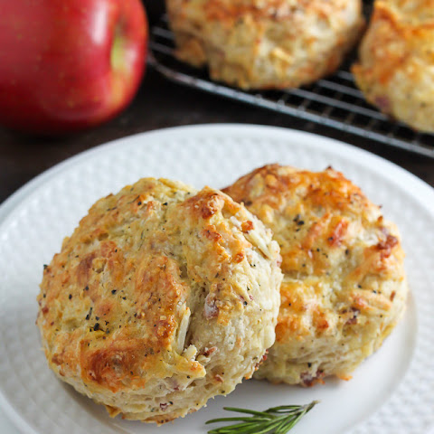 White Cheddar, Bacon, and Apple Biscuits