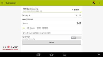 Screenshot of ASN Mobiel Bankieren