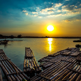 Bamboo Rafts by Muhammad Yoserizal - Transportation Other