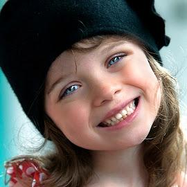 Black Hat by Sylvester Fourroux - Babies & Children Child Portraits