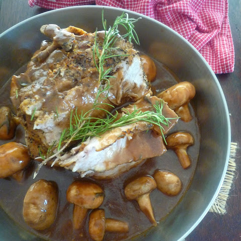 Pork Sirloin Roast with Marsala and Mushroom Sauce