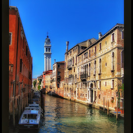 Canal by Mandy Hedley - Landscapes Travel ( water, buildings, venice, architecture, canal )
