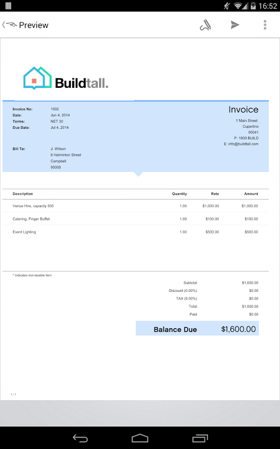 Invoice & Estimate Invoice2go Screenshot 16