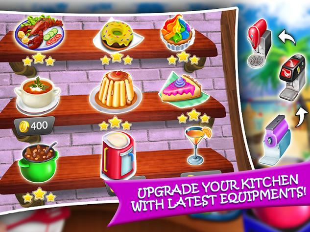 Crazy Kitchen Seafood Restaurant Chef Cooking Game Screenshot