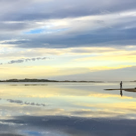 Sunset at French's Narrows at Cape Conran - Victoria Australia by Darren O'Shannassy - Instagram & Mobile iPhone ( clouds, water, sand, reflection, sunset, beach, fishing, iphone )