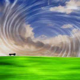 Wagon In The Sky by Edward Allen - Digital Art Things