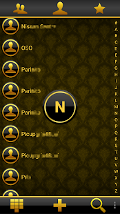 THEME DARK GOLD FOR EXDIALER - screenshot