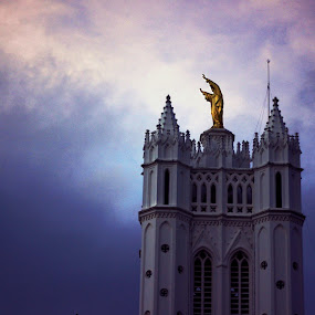May God Bless. by Gokul Rajenan - Buildings & Architecture Places of Worship ( #statue #building #sky #nature )