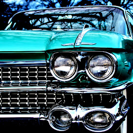 Aqua Marine by Jeffrey Lorber - Transportation Automobiles ( coupe de ville, classic car, caddy, 1959, turquoise, lorberphoto, cadillac, classic auto, lorber, aquamarine, 1950's cars, jeffrey lorber,  )