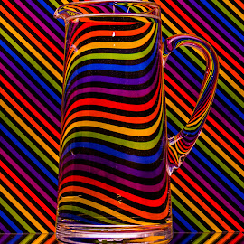 Jazzy Jug by Bev Harrison - Abstract Patterns ( colour )