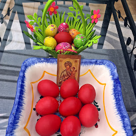 Hristos a inviat! by Dobrin Anca - Public Holidays Easter ( easter, green, wonder, brittany, garden )