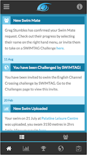 SWIMTAG Fitness app screenshot for Android
