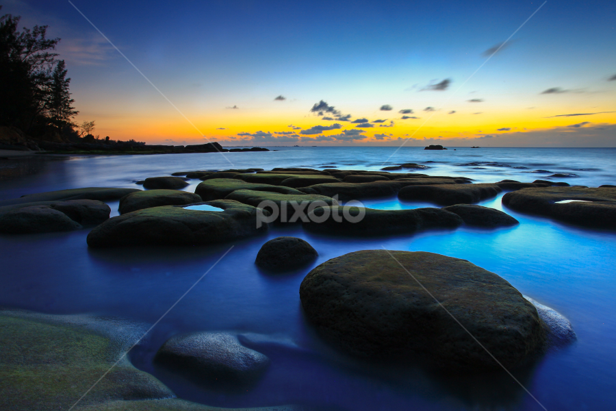 Blue Hour at Tindakon Dazang by Lawrence Chung - Landscapes Sunsets & Sunrises