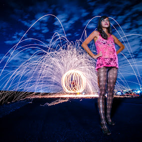 by Keith Cook - Abstract Light Painting ( breast cancer awareness, pink, lighting, lights, mood factory, hot pink, mood, scents, color, mood-lites, sassy, brighten our world,  )