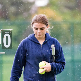 Rain Delay by Adam Northrup - Sports & Fitness Tennis ( varsity, score, tennis, rain )