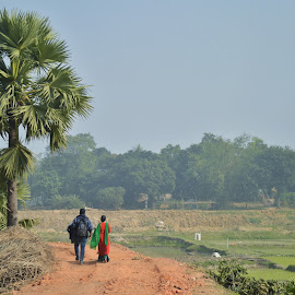 RGB..... by Ashif Hasan - Landscapes Travel ( ashif_hasan, red, nature, tree, village, blue, green, couple, road, valentine, people, together )
