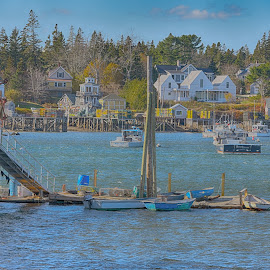 Bass Harbor, Maine  by Lorraine D.  Heaney - City,  Street & Park  Neighborhoods