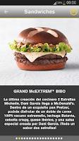 Screenshot of McDonald's España