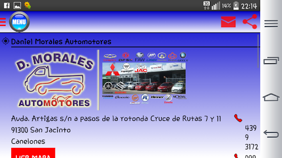 Daniel Morales Automotora - screenshot