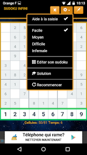 Sudoku Infini & solution - screenshot