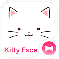 Download Cute Theme-Kitty Face- APK for Android Kitkat