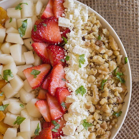 Super Fruit and Walnut Quinoa Salad