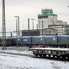 Wagons by Alexandru VA - Transportation Trains ( winter, snow, train, wagons )