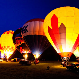Night Glow by Ron Chan - Transportation Other ( hot air balloon, night glow )