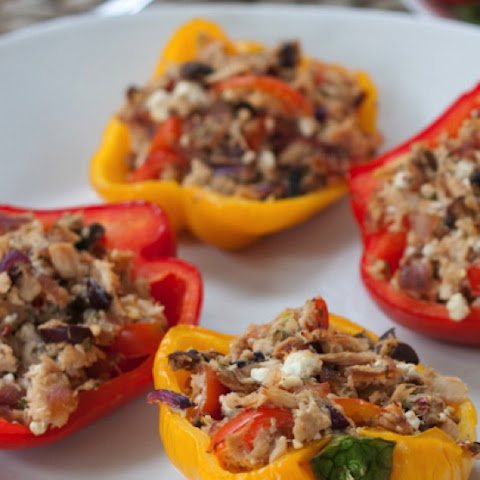 Healthy Tuna Stuffed Bell Peppers