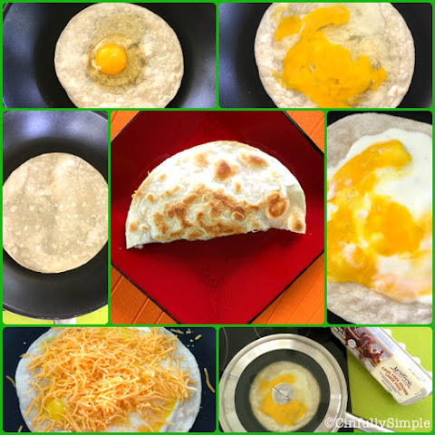 Easy Eats - Quick Egg n Cheese Quesadilla