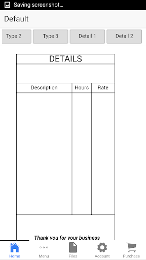 Auto Repair Invoice - screenshot