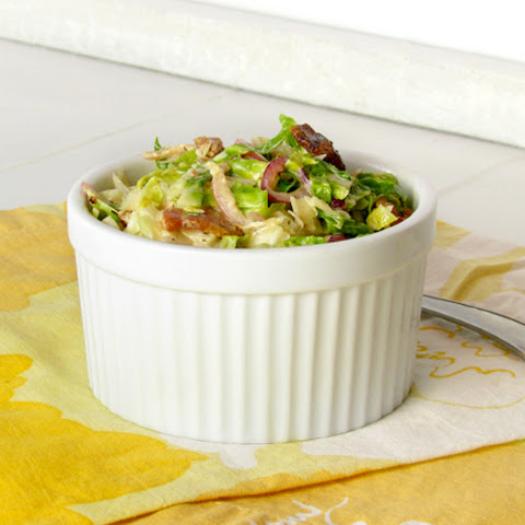 Paleo Brussels Sprout and Bacon Coleslaw