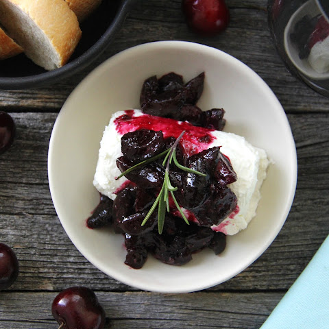 Cherry & Wine Compote with Goat Cheese
