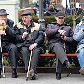 Getting Olderers. by Marcel Cintalan - People Street & Candids ( friends, odessa, street, ukraina, getting older, four, street photography )